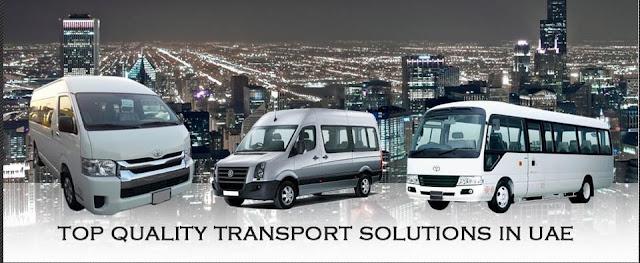 bus transportation company transport in dubai van