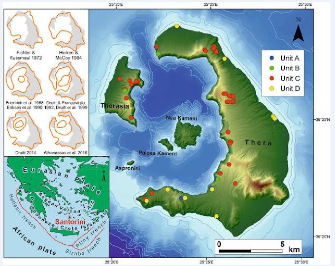 Οι επιστήμονες δείχνουν πώς ήταν η Σαντορίνη πριν από την ηφαιστειακή έκρηξη του 16ου αιώνα π.Χ.