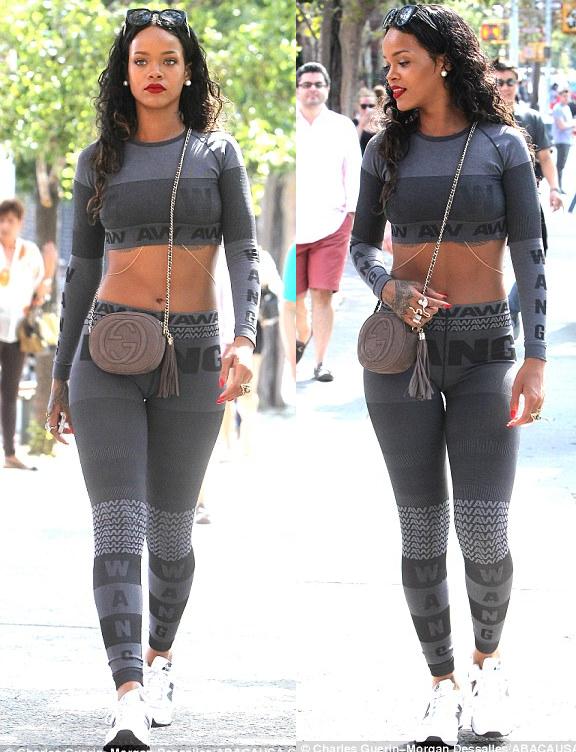 That necessary. Rihanna camel toe something also