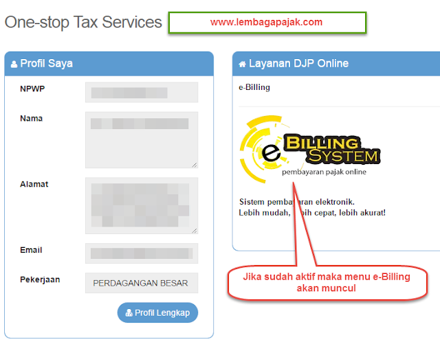 Setting Profil Aplikasi e-Billing