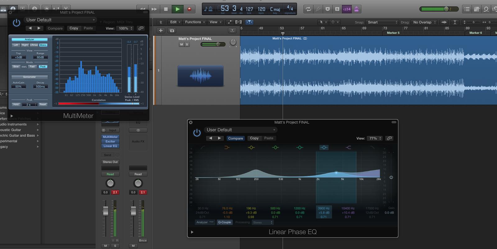 Week 11: Mastering Matthew's track | MUA1113 Yokez