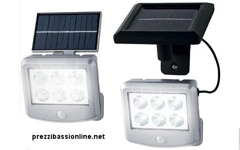 Luce Per Esterno Con Pannello Solare.Prezzi Bassi Online Faro Led Ad Energia Solare Con Sensore
