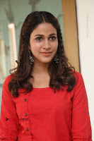 Actress Lavanya Tripathi Latest Pos in Red Dress at Radha Movie Success Meet .COM 0161.JPG