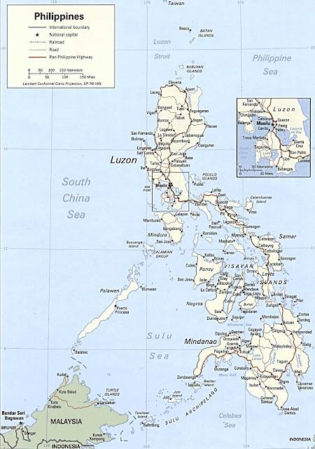 Gambar Peta politik Filipina