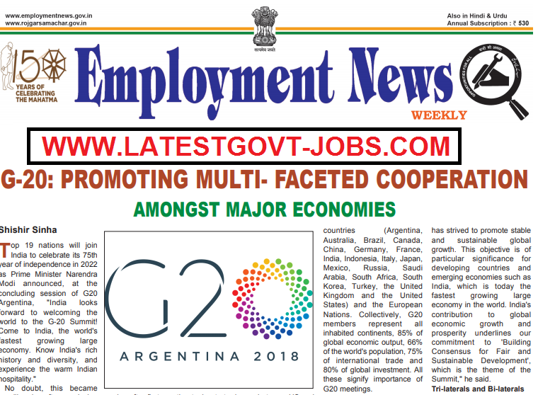 Employment News Paper of this week : 15–21 December 2018 - 45976 Govt Jobs
