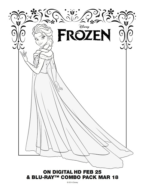 Coloring Pages Of Frozen Elsa