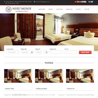 theme blog khách sạn