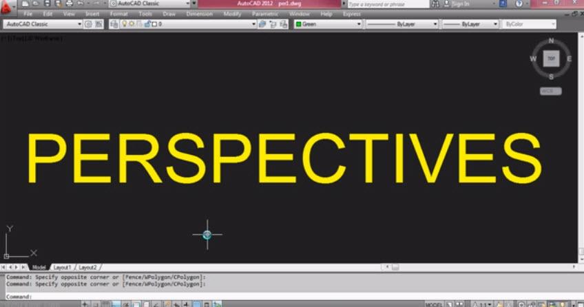 วิธีการเขียนภาพperspective Views จากการใช้โปรแกรม Autocad
