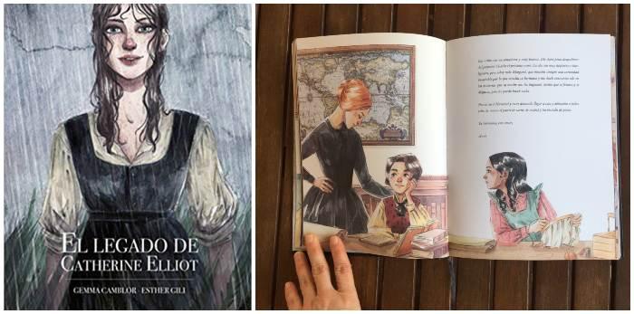 libro ilustrado juvenil El legado de Catherine Elliot Esther Gili