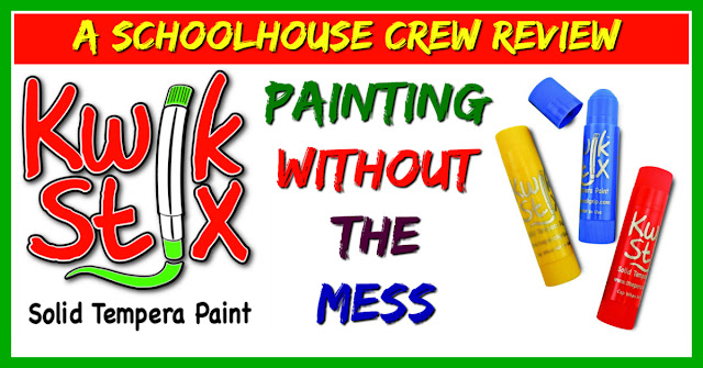 Kwik Stix, tempera paint, no mess kids art, kids art supplies