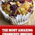 The Most Amazing Cranberry Muffins #dessert #muffins