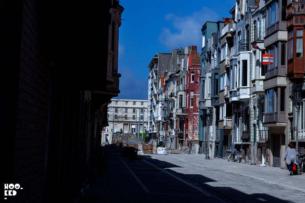Colourful streets in Ostend, Belgium