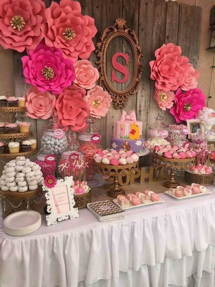 12 ideas fabulosas que te ayudaran a decorar tu fiesta con papel mimundomanual - Flores para decorar paredes ...