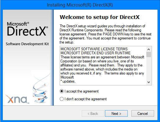 ติดตั้ง DirextX9