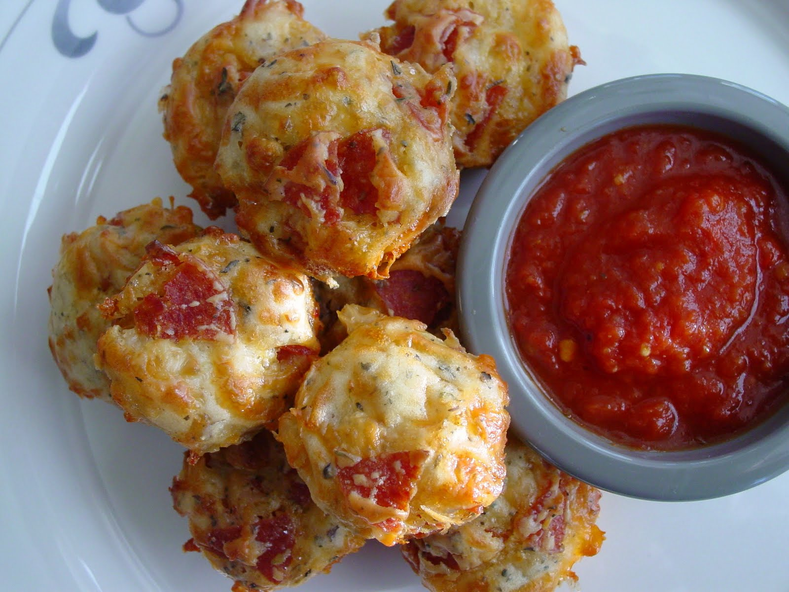 The Feisty Fork Pepperoni Pizza Puffs