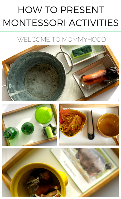 How to present montessori style activities for kids by Welcome to Mommyhood #montessori, #homeschool, #preschoolactivities, #montessoriactivities