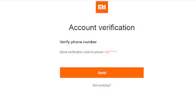 Account Verification - Mi Account - Xiomi