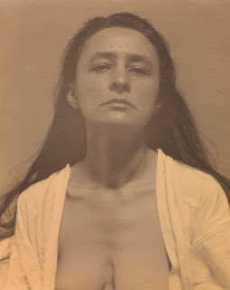 Photograph by Alfred Stieglitz of Georgia O'Keeffe in 1918