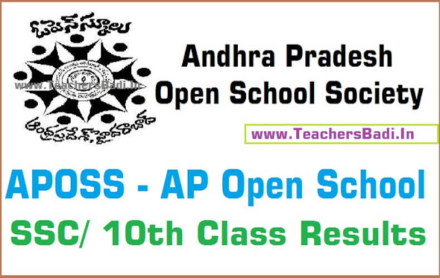 AP Open school,SSS,Results,APOSS 10th Class 2016 Results