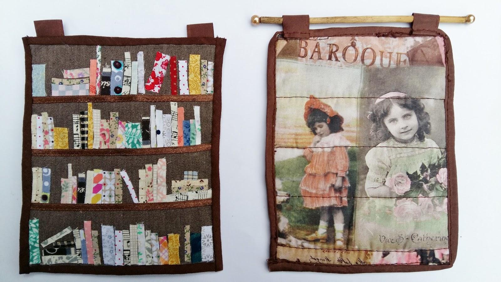boekenkast quilt voor het poppenhuis