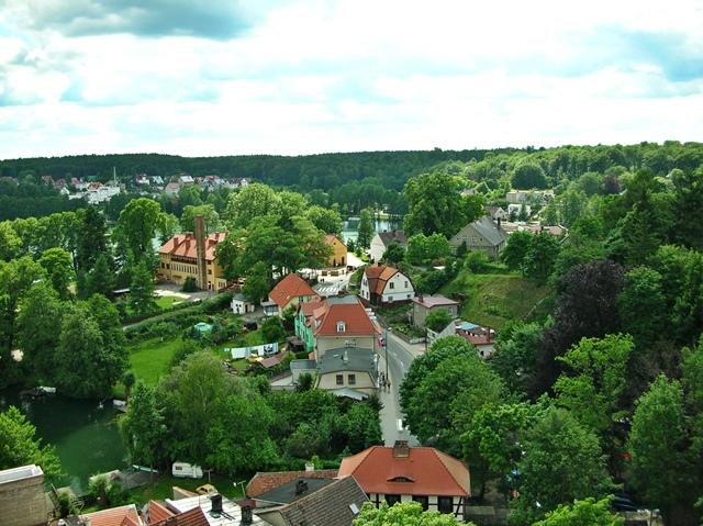 miasto, zieleń, domy, lato filmowe