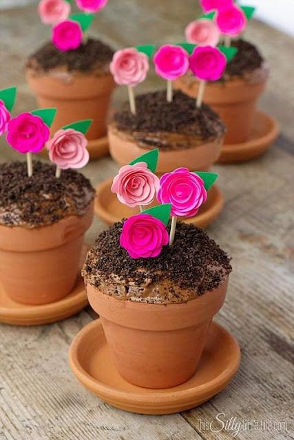 Decoração de Cupcake Vasnho de Flor
