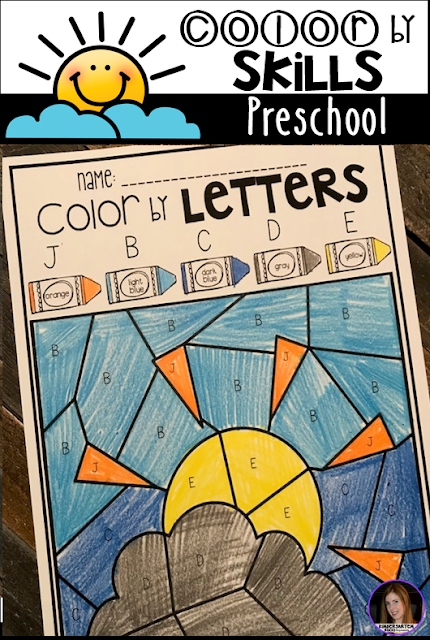 The boys and girls will work on letter identification with Color by Letters.  There are four editable pages.