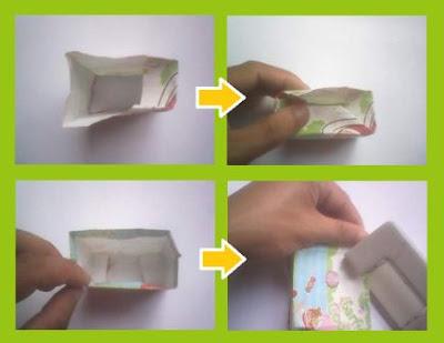 Cara membuat tempat telur dari kertas kado dengan mudah