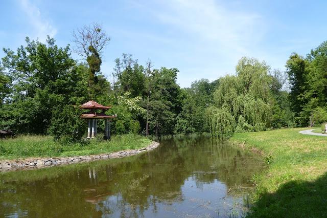 Pawilon chiński w Ogrodzie Pałacowym w Kromieryż