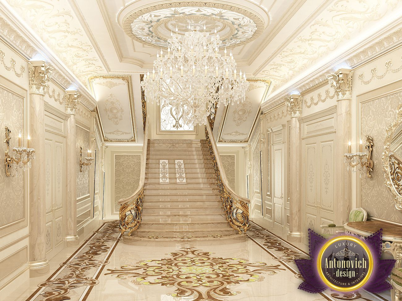 Luxury antonovich design uae dream interior of luxury - Decor oriental design interieur luxe antonovich ...