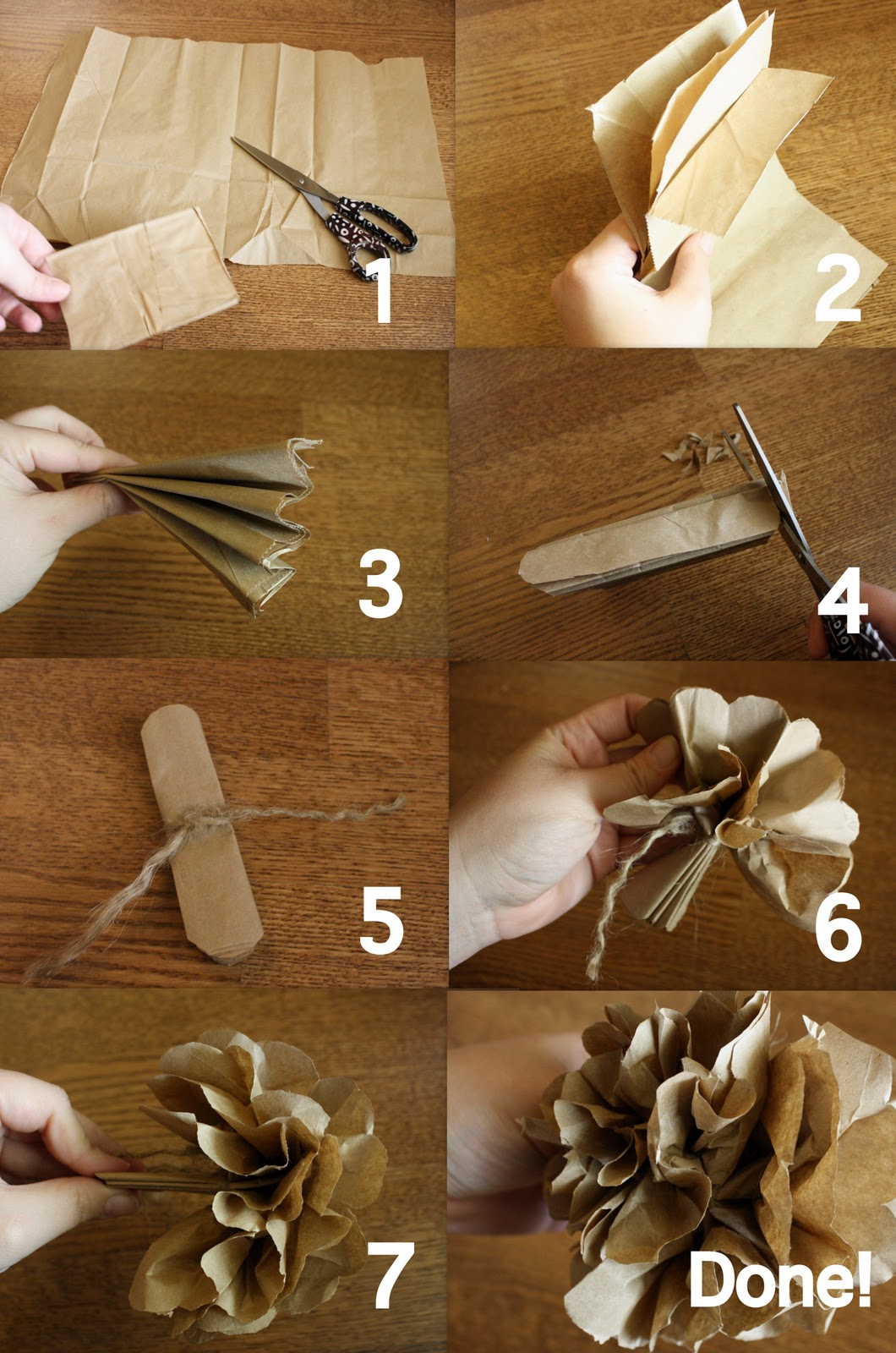 How To Make Handmade Flowers From Paper 52 Mantels Lunch Bags Into Paper Flowers