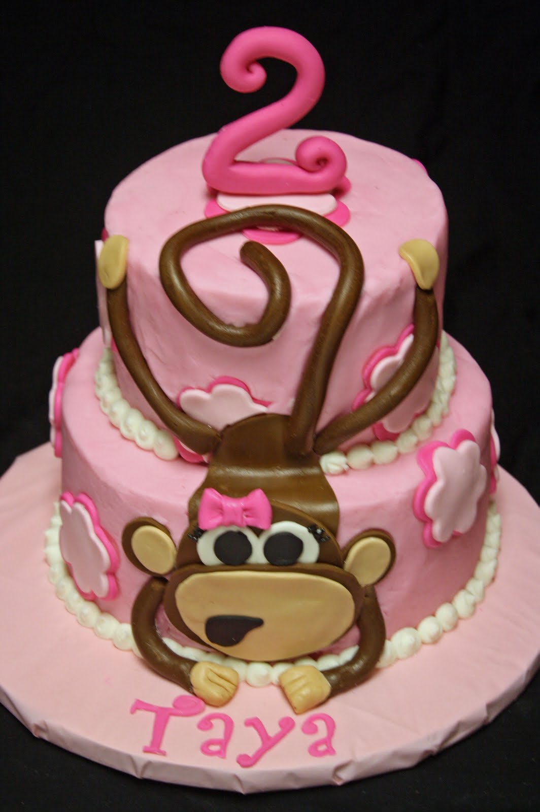Monkey cake recipe dishmaps for Monkey birthday cake template
