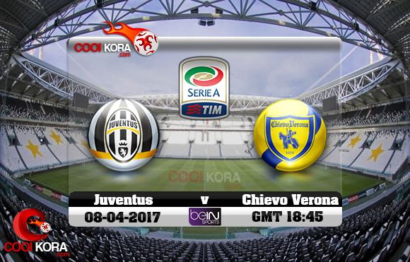 مشاهدة مباراة يوفنتوس وكييفو فيرونا اليوم 8-4-2017 في الدوري الإيطالي