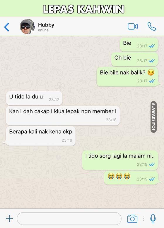 Whatsapp Semasa Bercinta Vs Selepas Kahwin