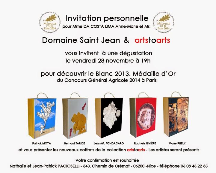 Taride, Moya, Vin de Bellet, oeuvres d'artistes, ecole de Nice
