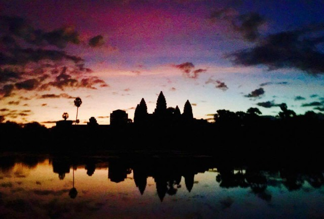 the amazing Angkor Wat before sunrise in Siem Reap Cambodia