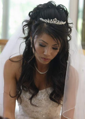 bridal hairstyles for long hair for long hiar with veil half up 2013 for short hair indian half