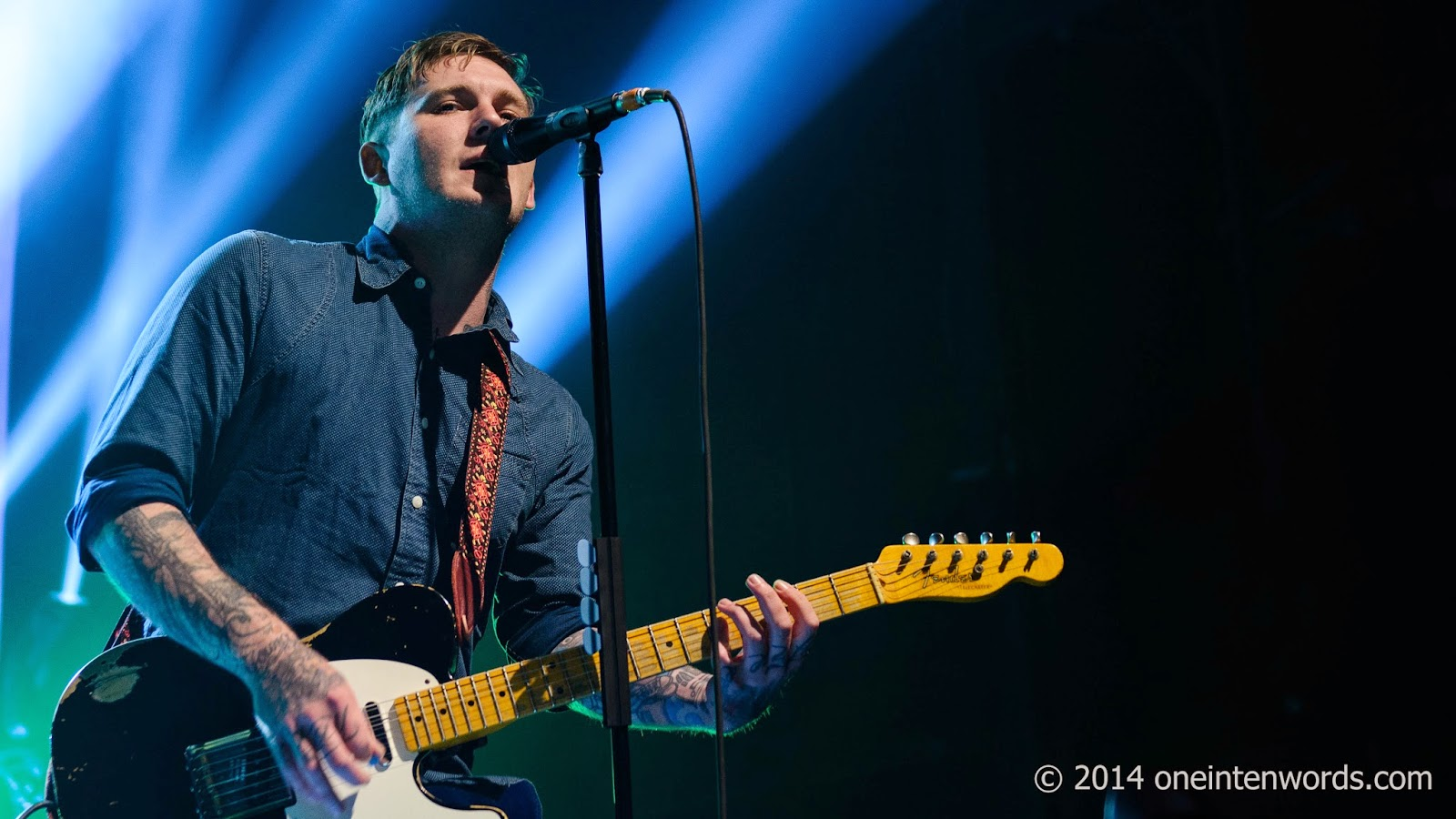 The Gaslight Anthem at Sound Academy in Toronto September 19, 2014 Photo by John at One In Ten Words oneintenwords.com one in ten words toronto indie alternative music blog concert photography pictures