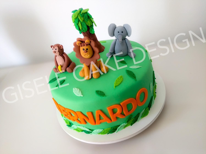 Amado Gisele Cake Design: Bolo Safari NJ14