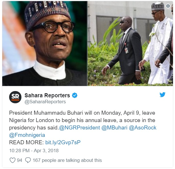 JUST IN: Buhari To Jet Out To UK For Annual Leave, Visit Personal Doctors