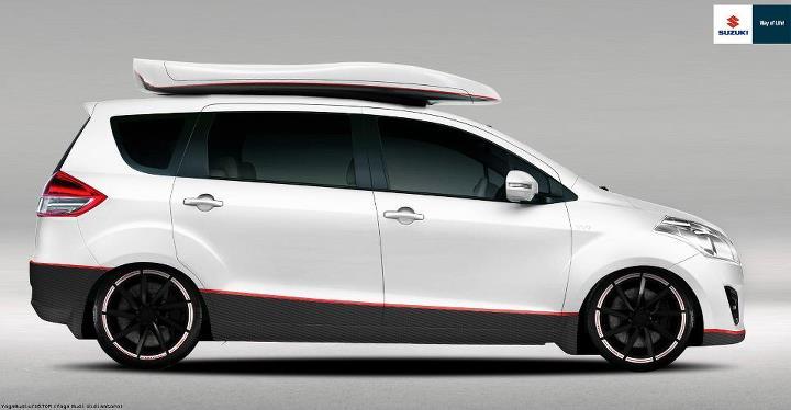 Modifikasi Suzuki Ertiga Putih