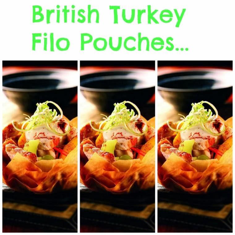 British Turkey Filo Pouches: Leftover Turkey Ideas