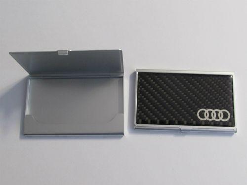 Tempat Kartu Nama Logo Audi Carbon