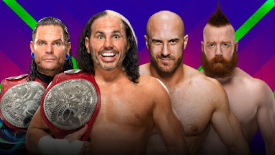 The Hardy Boyz (Jeff and Matt Hardy) (c) vs. Cesaro and Sheamus