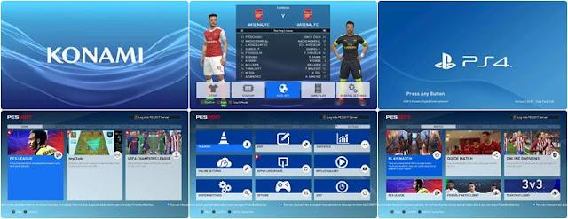 PES 2017 New Menu Graphic Versi Playstation dari Abrar