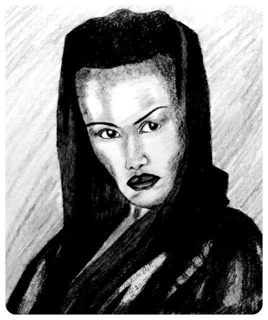 PENCIL DRAWING - GRACE JONES