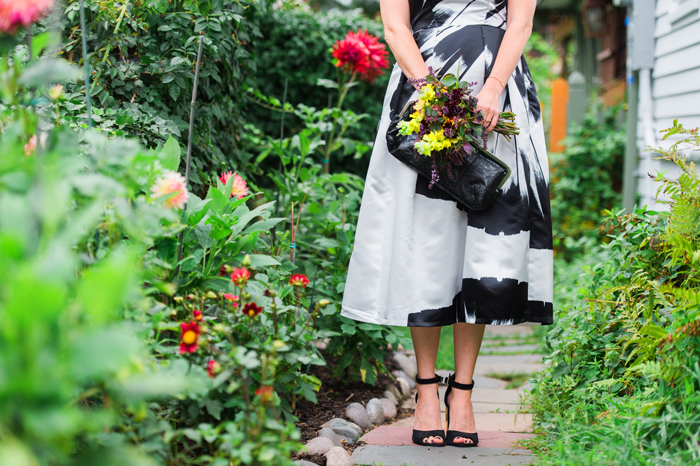 Closet London black and white dress