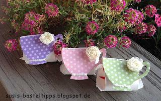 verpackung raffaello tea time goodie geschenk stampin up tee designerpapier