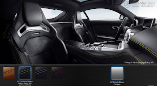 Nội thất Mercedes AMG GT S 2019 màu Đen Leather chỉ Vàng 601