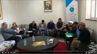 """فريق التجمع الدستوري يستقبل تجار سوق """"ولد مينة"""" بمقر البرلمان"""